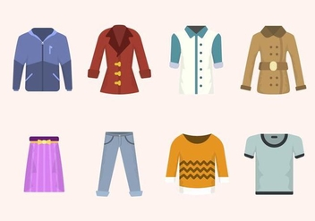 Flat Clothes Vectors - бесплатный vector #441863