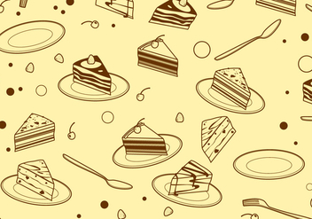 Outline Triangle Tiramisu Pattern Free Vector - Free vector #441873