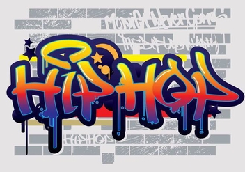 Hip Hop Graffiti Text Vector - бесплатный vector #441883