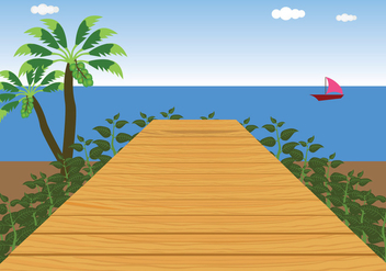 Boardwalk Vector - Free vector #441913