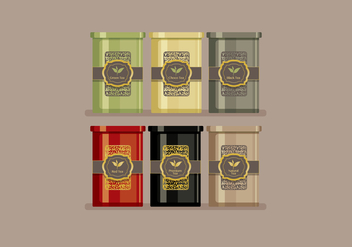 Tin Box Tea Vector - бесплатный vector #441923
