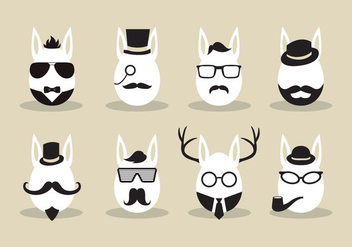 Hipster Easter Egg Vector - Kostenloses vector #441973