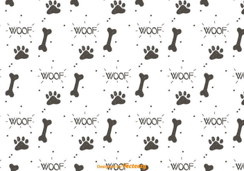 Dog Footprint Pattern Vector - vector gratuit #442013