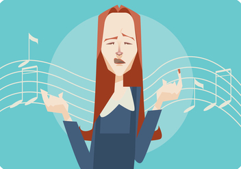 Women Singing Vector Background - vector #442023 gratis