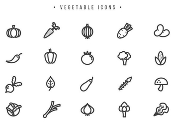 Free Vegetable Vectors - Kostenloses vector #442043