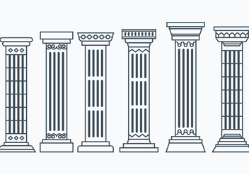Set of Corinthian Columns - Free vector #442313