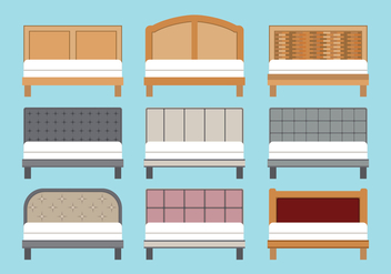 Headboard Vectors Set - vector gratuit #442333