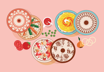 Dish at Tajine Vector - Free vector #442343