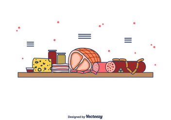Charcuterie Ingredients Vector - vector #442363 gratis