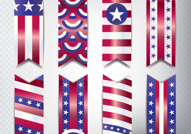 Memorial Day Banner Set - Free vector #442423