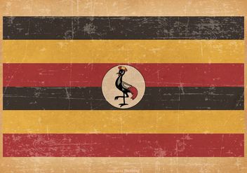Old Grunge flag of Uganda - бесплатный vector #442493