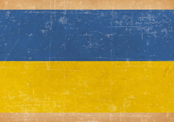 Old Grunge Flag of Ukraine - vector gratuit #442503