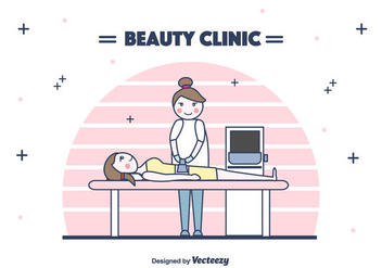 Beauty Clinic Treatment Vector - Kostenloses vector #442523