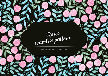 Vector Roses Seamless Pattern - Kostenloses vector #442583