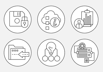 Free Thin Line Web Icons - vector #442683 gratis