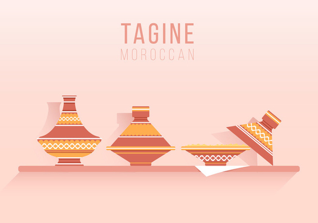 Tajine Moroccan Traditional Food Illustration - vector gratuit #442703