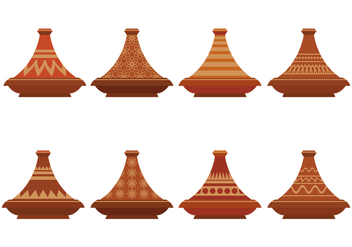 Tajine Vector Icons Set - Kostenloses vector #442743