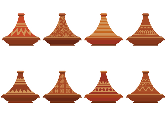 Tajine Vector Icons Set - vector gratuit #442743