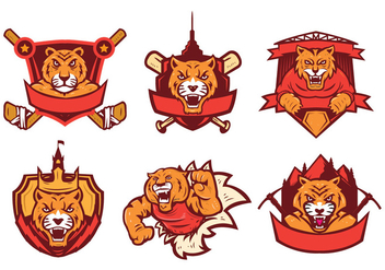 Free Tigers Logo Vector Set - Kostenloses vector #442753