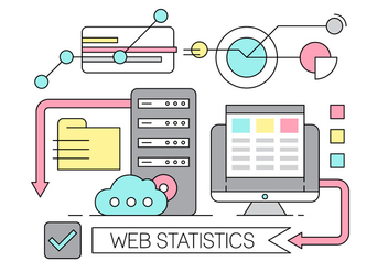 Free Linear Web Statistics - Free vector #442853
