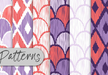 Colorful Hand Drawn Pattern Set - vector gratuit #442983