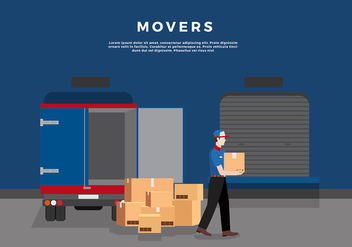 Movers Shipping Template Free Vector - vector gratuit #443033
