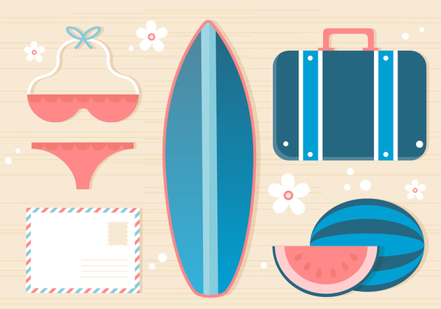 Free Summer Traveling Template Background - Free vector #443113