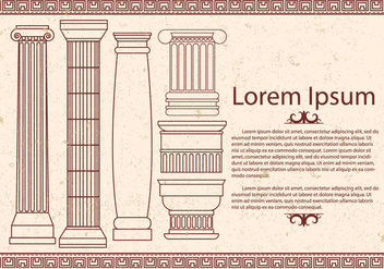 Greek Corinthian Vector - Free vector #443133
