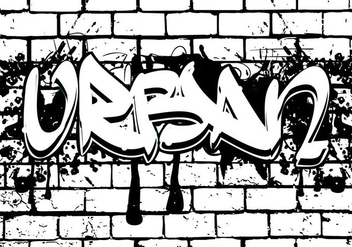Urban Lettering in Grafitti Style - vector gratuit #443143