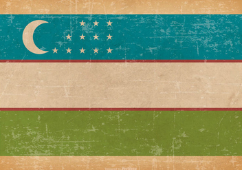 Old Grunge Flag of Uzbekistan - vector gratuit #443163