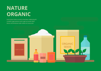 Organic Fertilizer, Biodegradable Flat Illustration - бесплатный vector #443203