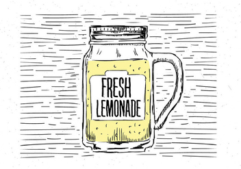 Free Hand Drawn Vector Lemonade Illustration - бесплатный vector #443233
