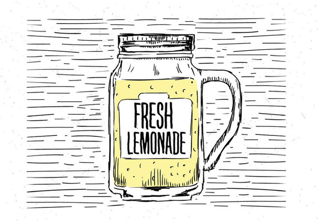 Free Hand Drawn Vector Lemonade Illustration - Free vector #443233