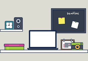 Workspace Illustration - vector #443273 gratis
