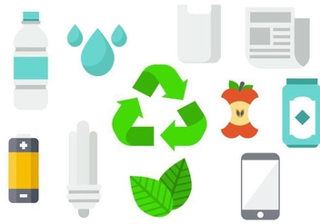 Free Recycling Product Background Vector - Kostenloses vector #443283