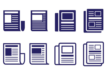 Press Release Icon Set - vector #443323 gratis