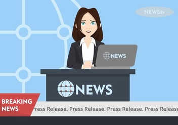 Press Release Illustration - vector gratuit #443333