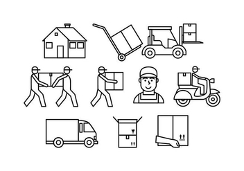 Free Movers Line Icon Vector - Free vector #443343