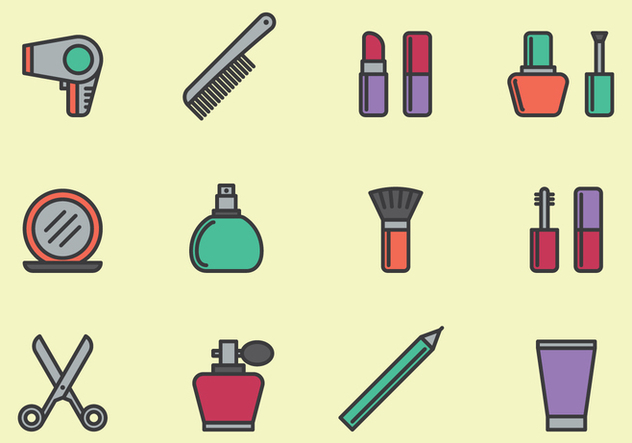 Cosmetic Icons Set - vector #443353 gratis