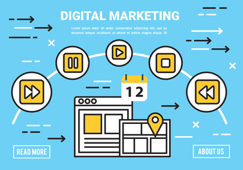 Free Flat Digital Marketing Concept Vector - vector #443403 gratis