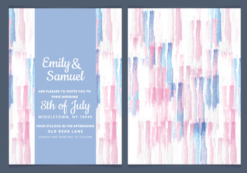 Vector Watercolor Wedding Invite - vector #443443 gratis