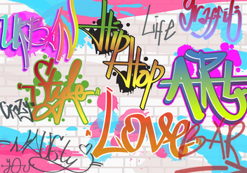 Wall Graffiti Vector - vector gratuit #443463