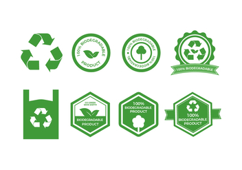 Free Biodegradable Vector Badges Collection - Free vector #443473