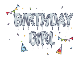 Free Birthday Girl Vector - Kostenloses vector #443493