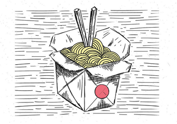 Free Hand Drawn Vector Chinese Food Illustration - vector gratuit #443513
