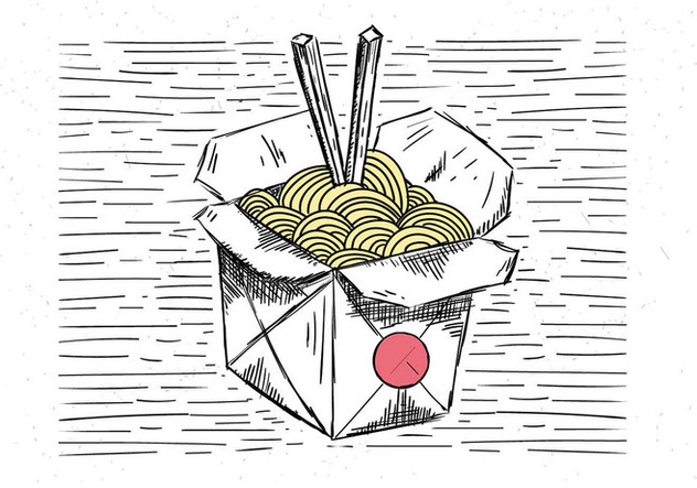 Free Hand Drawn Vector Chinese Food Illustration - Kostenloses vector #443513