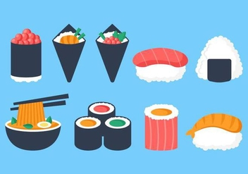 Free Japanese Food Collection Vector - vector gratuit #443573
