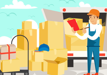 Delivery Man Services - vector #443603 gratis