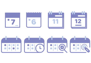 Calendar Icon Set - vector #443613 gratis