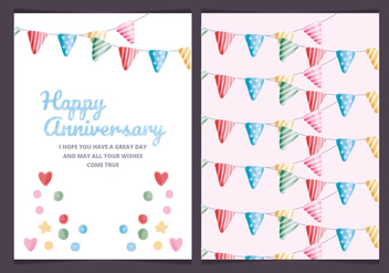 Vector Colourful Anniversary Card - vector gratuit #443633